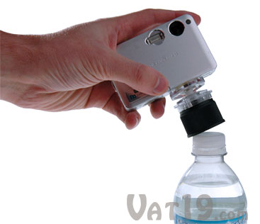 Bottle Cap Tripod is a bottle top tripod that fits over nearly any plastic bottle.