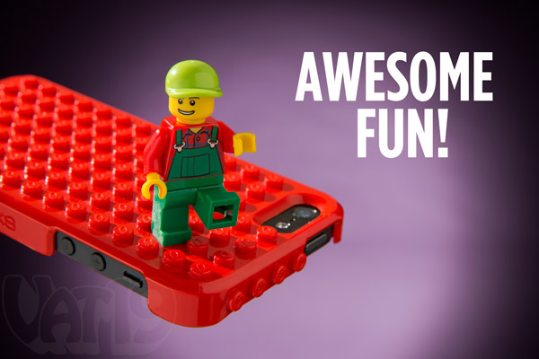 Have tons of fun connecting LEGO bricks to your Brickcase iPhone case.