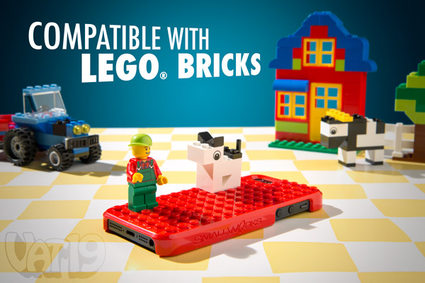 The Brickcase iPhone case is compatible with all LEGO® bricks.