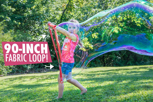 The Bubble Thing's 90-inch loop and simple design means kids of all ages can make huge bubbles.