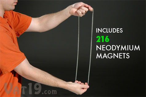 Each set of BuckyBalls magnetic building spheres includes 216 rare earth neodymium magnets