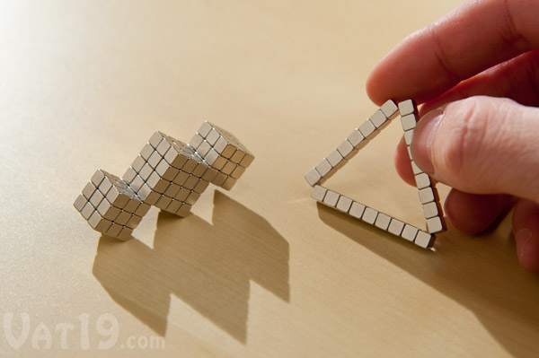 BuckyCubes are an addictive magnetic desktoy.