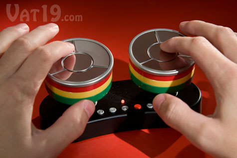 Caribbean Finger Drum is a touch-sensitive steel drum kit.