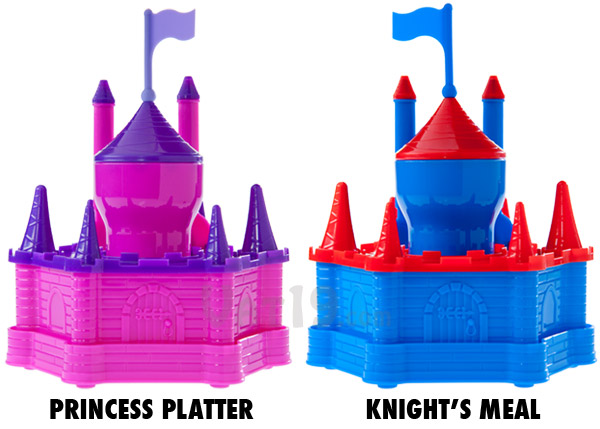 Choose between the Princess Platter and the Knight's Meal.