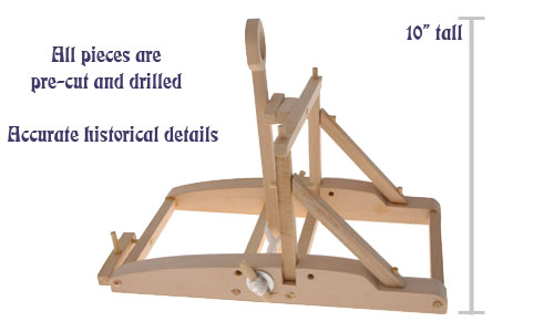 The Working Wood Ping Pong Catapult Kit lets you build a medieval siege engine that hurls more than just insults!