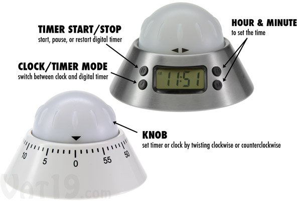 Check out the differences between the analog and digital versions of the Color Alert Kitchen Timers.