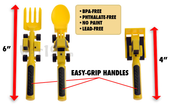 Constructive Eating Utensils set is 100% non-toxic.