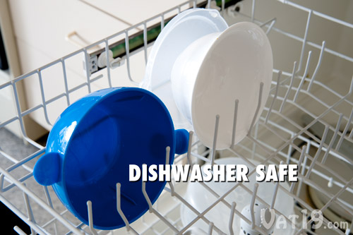The Cool Touch Microwave Bowl is top rack dishwasher safe.