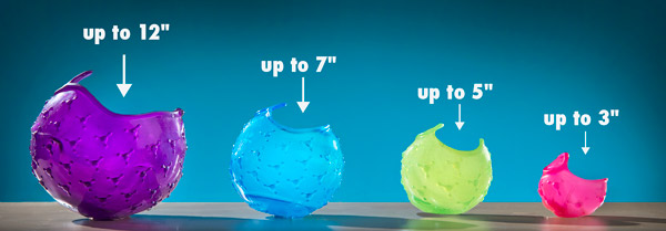 Each 4-pack includes four different sizes of Cover Blubber.