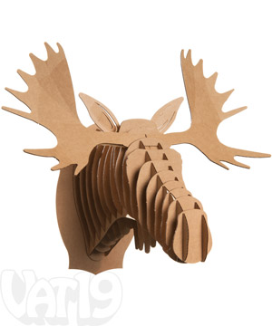 Cardboard safari animals moose - Cardboard moosehead ...
