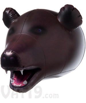 Giant Inflatable Animal Heads Blow Up Tiger Bear Shark