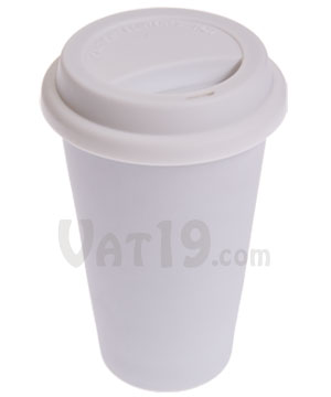 I Am Not A Paper Cup Double Walled Porcelain Coffee Mug