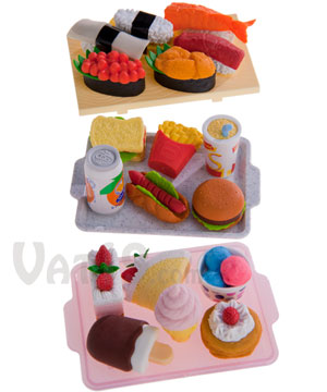 Japanese Food Erasers