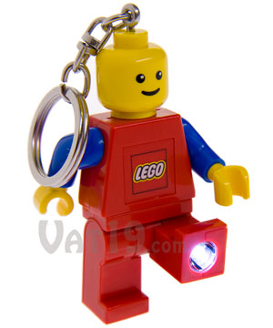 Lego key light keychain official lego man with flashlight for House key cover with light