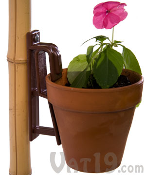 The Pot Latch Hang Pots From Nearly Any Vertical Surface
