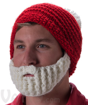 The santa hat and beard is awesome!! I am currently making one for my 3 year old and am using the child size pattern (he's got a big head ;)) I have a quick question about row .