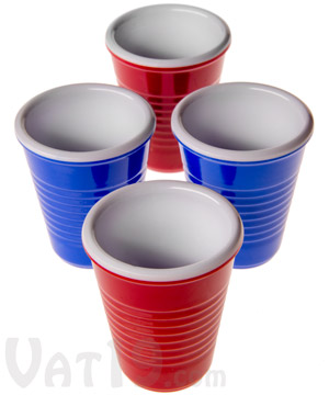 Mini party cup shot glasses set of 4 melamine shot glasses for Small plastic cups