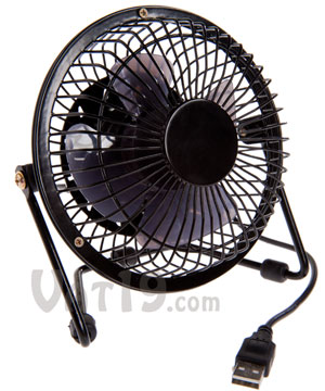 USB Retro Metal Desk Fan