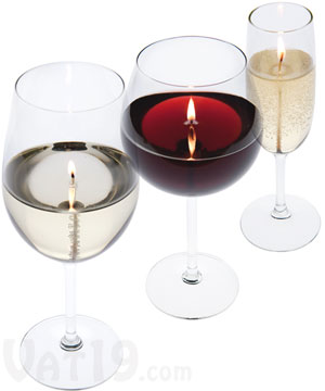 Wine and Champagne Candles