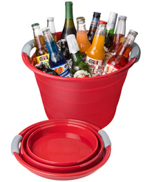 Collapsible Beverage Bin