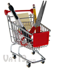 Mini Shopping Cart Office Caddy
