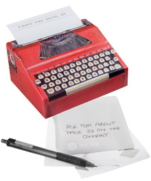 Typewriter Note Dispenser