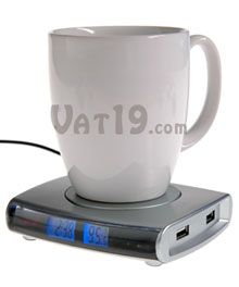 USB Drink Warmer w/ 4-port Hub