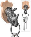 Rhino Head Key Holder