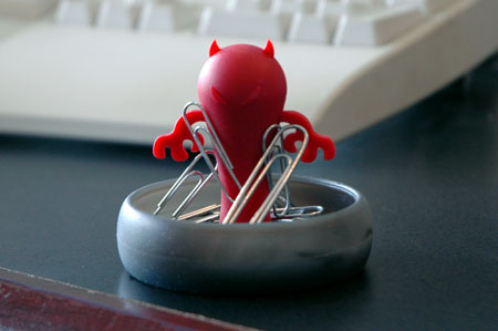 Devil Paper Clip Holder