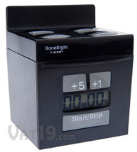 Black DoneRight Kitchen Multi Timer