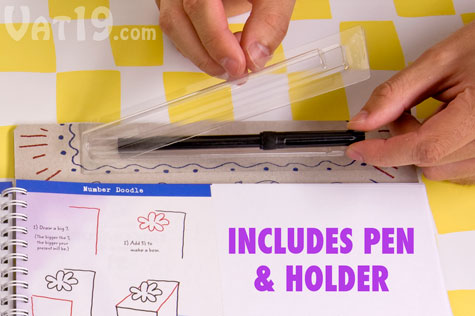 Learn to create oodles of doodles with Doodles to Go notebook.