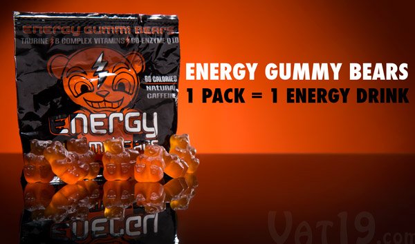 Energy Gummy Bears Energy Fueled Gummi Candy