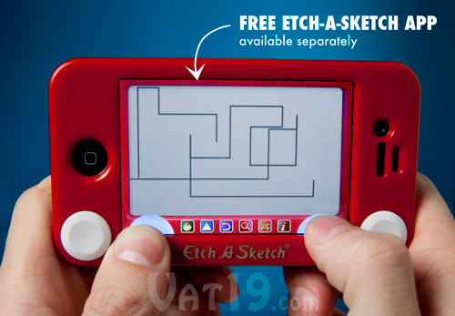 Etch-a-Sketch iPhone and iPod cases are made from impact-resistant ABS plastic.