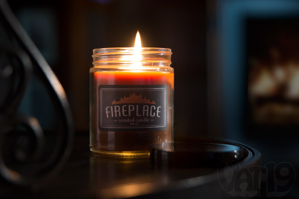 Fireplace Scented Jar Candle smells like a real wood-burning fireplace