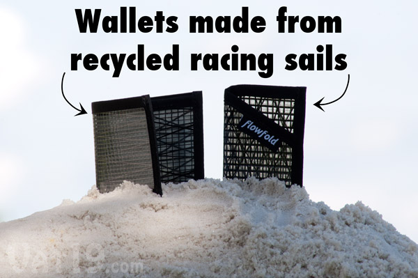 Flowfold Wallets are made from discarded advanced racing sails.