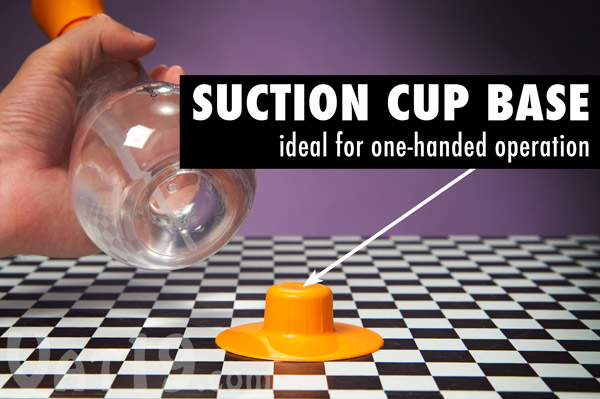 The Foam Soap Dispenser comes with a removable suction cup base.