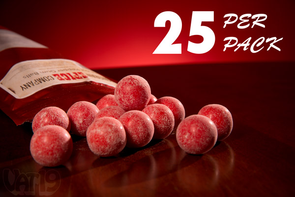 Each pack of Ghost Pepper Gumballs includes approximately 25 gumballs.