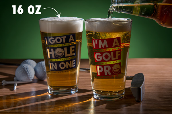 Golf Beer Pint Glasses