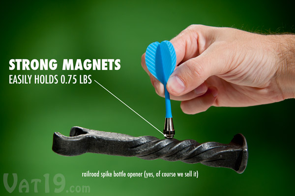 Each dart features a super strong magnet to ensure that it stays wherever it lands on the golf dart board.