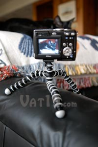 Gorillapod Flexible Tripod on a couch