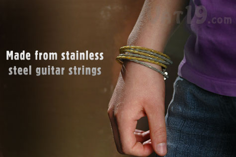 Stacked Guitar String Bracelets