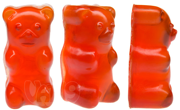 Gummy Bear Soap viewed from multiple angles.