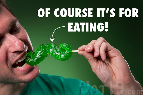 The Gummy Mustache is hand made in the USA and is delicious.