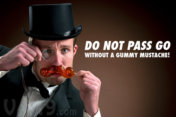 Edible Gummy Mustache on a Stick looks great with any outfit.