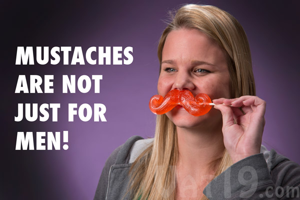 With the Gummy Mustache, it's safe to say that mustaches aren't just for men anymore.