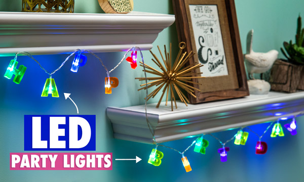 Happy birthday string lights hang anywhere light up - How to hang up string lights ...