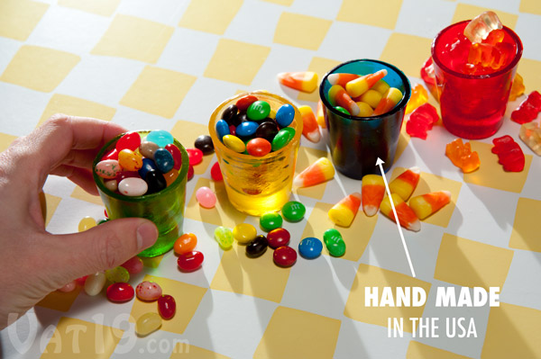 Use your Hard Candy Shot Glasses for more than just holding liquor.