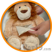 Hot Hugs aromatherapy stuffed animal has a tummy insert.