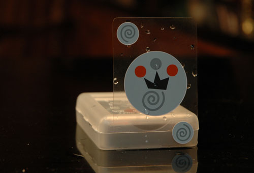 Invisible Playing Cards are waterproof playing cards.