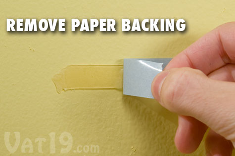Step 2: Remove the backing paper